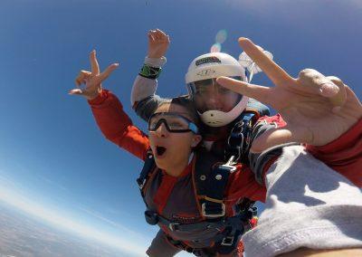 Salto tandem skydive jump85