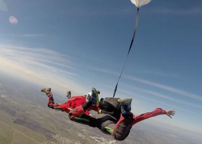 curso skydive queda livre - abriu o paraquedas