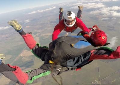curso skydive queda livre - apoio do instrutor