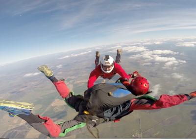 curso skydive queda livre - apoio do instrutor 2